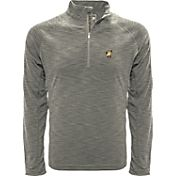 Levelwear Men's Arkansas Razorbacks Grey Mobility Long Sleeve Quarter-Zip Shirt
