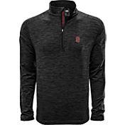 Levelwear Men's Stanford Cardinal Grey Armour Quarter-Zip Shirt