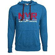 Levelwear Men's New York Rangers Scoreboard Royal Hooded T-Shirt