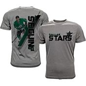 Levelwear Men's Dallas Stars Tyler Seguin #91 Grey Spectrum T-Shirt