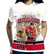 Levelwear Women's Chicago Blackhawks Jonathan Toews #19 Center Ice White T-Shirt