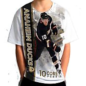 Levelwear Youth Anaheim Ducks Corey Perry #10 Breakaway White T-Shirt