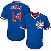 Majestic Men's Replica Chicago Cubs Ernie Banks Cool Base Royal Cooperstown Jersey