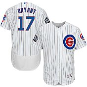 Majestic Men's 2016 World Series Authentic Chicago Cubs Kris Bryant #17 Flex Base Home White On-Field Jersey