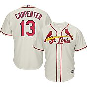 Majestic Men's Replica St. Louis Cardinals Matt Carpenter #13 Cool Base Alternate Ivory Jersey