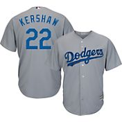 Majestic Men's Replica Los Angeles Dodgers Clayton Kershaw #22 Cool Base Alternate Road Grey Jersey