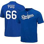 Majestic Triple Peak Men's Los Angeles Dodgers Yasiel Puig Royal T-Shirt