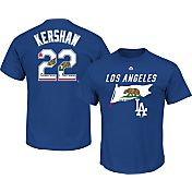Majestic Men's Los Angeles Dodgers Clayton Kershaw #22 Royal State Flag T-Shirt