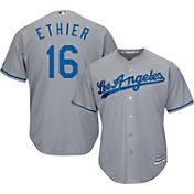 Majestic Men's Replica Los Angeles Dodgers Andre Ethier #16 Cool Base Road Grey Jersey