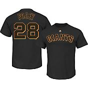 Majestic Men's San Francisco Giants Buster Posey #28 Black T-Shirt