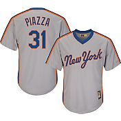 Majestic Men's Replica New York Mets Mike Piazza Cool Base Grey Cooperstown Jersey