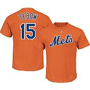 Majestic Men's New York Mets Tim Tebow #15 Orange T-Shirt