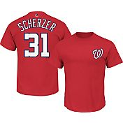 Majestic Men's Washington Nationals Max Scherzer #31 Red T-Shirt