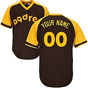 Majestic Men's Custom Cool Base Cooperstown Replica San Diego Padres 1978 Brown Jersey