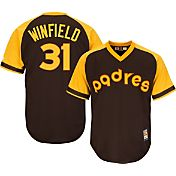 Majestic Men's Replica San Diego Padres Dave Winfield Cool Base Brown Cooperstown Jersey