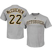 Majestic Men's Pittsburgh Pirates Andrew McCutchen #22 Grey T-Shirt