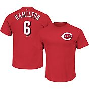 Majestic Men's Cincinnati Reds Billy Hamilton #6 Red T-Shirt