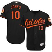 Majestic Men's Authentic Baltimore Orioles Adam Jones #10 Alternate Black Flex Base On-Field Jersey