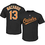 Majestic Men's Baltimore Orioles Manny Machado #13 Black T-Shirt