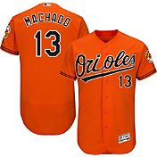 Majestic Men's Authentic Baltimore Orioles Manny Machado #13 Alternate Orange Flex Base On-Field Jersey