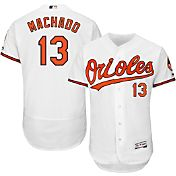 Majestic Men's Authentic Baltimore Orioles Manny Machado #13 Home White Flex Base On-Field Jersey