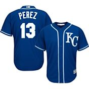 Majestic Men's Replica Kansas City Royals Salvador Perez #13 Cool Base Alternate Royal Jersey