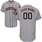 Majestic Men's Custom Authentic Houston Astros Flex Base Road Grey On-Field Jersey
