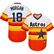 Majestic Men's Replica Houston Astros Joe Morgan Cool Base Rainbow Cooperstown Jersey