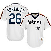 Majestic Men's Replica Houston Astros Luis Gonzalez Cool Base White Cooperstown Jersey