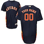 Majestic Men's Custom Authentic Houston Astros Flex Base Alternate Navy On-Field Jersey