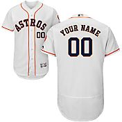 Majestic Men's Custom Authentic Houston Astros Flex Base Home White On-Field Jersey