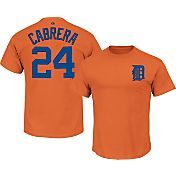 Majestic Men's Detroit Tigers Miguel Cabrera #24 Orange T-Shirt