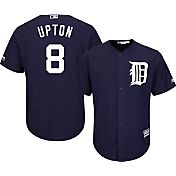 Majestic Men's Replica Detroit Tigers Justin Upton #8 Cool Base Alternate Navy Jersey