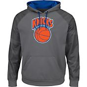 Majestic Men's New York Knicks Hardwood Classic Therma Base Armour II Grey Hoodie