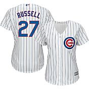 Majestic Women's Replica Chicago Cubs Addison Russell #27 Cool Base Home White Jersey