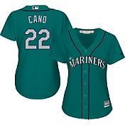 Majestic Women's Replica Seattle Mariners Robinson Cano #22 Cool Base Alternate Teal Jersey