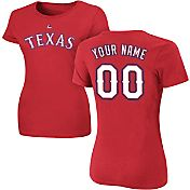 Majestic Women's Custom Texas Rangers Red T-Shirt