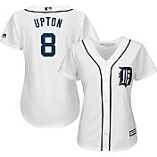Majestic Women's Replica Detroit Tigers Justin Upton #10 Cool Base Home White Jersey