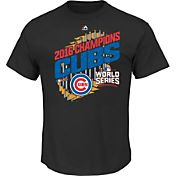Majestic Youth 2016 World Series Champions Parade Chicago Cubs Black T-Shirt