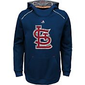 Majestic Youth St. Louis Cardinals Navy Paramount Pullover Hoodie