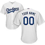 Majestic Youth Custom Cool Base Replica Los Angeles Dodgers Home White Jersey
