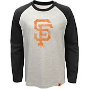 Majestic Youth San Francisco Giants White Raglan Long Sleeve Shirt