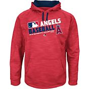 Majestic Youth Los Angeles Angels On-Field Red Authentic Collection Pullover Hoodie