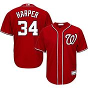 Majestic Youth Replica Washington Nationals Bryce Harper #34 Cool Base Alternate Red Jersey