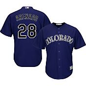 Majestic Youth Replica Colorado Rockies Nolan Arenado #28 Cool Base Alternate Purple Jersey