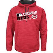 Majestic Youth Cincinnati Reds On-Field Red Authentic Collection Pullover Hoodie