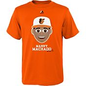Majestic Youth Baltimore Orioles Manny Machado Emoji Orange T-Shirt