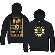 Mitchell & Ness Men's Boston Bruins Vintage History Black Hoodie