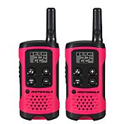 Motorola 16 Mile Talkabout T100 Two-Way Radio Pack – Pink