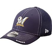 New Era Men's Milwaukee Brewers 39Thirty Neo Navy Flex Hat